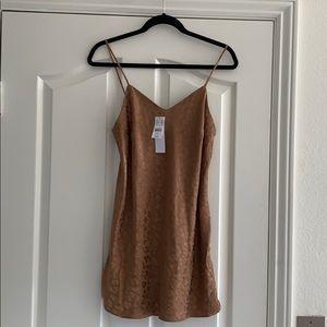 Topshop PETITE Jacquard Mini Slip Dress